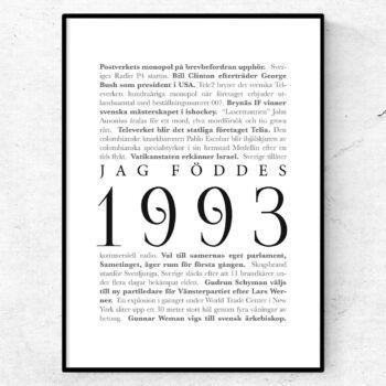 årtalsposter 1993 poster