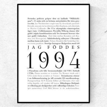 årtalsposter 1994 poster