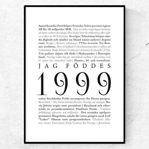 årtalsposter 1999 poster
