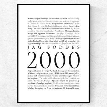 årtalsposter 2000 poster