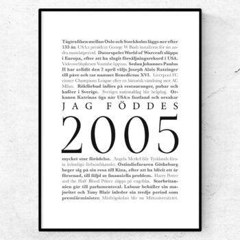 årtalsposter 2005 poster