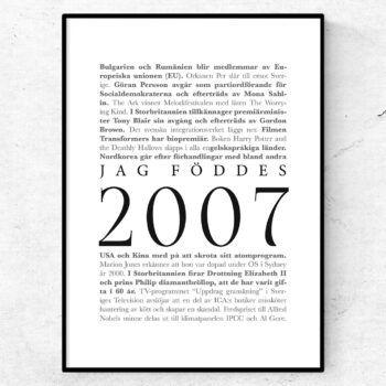 årtalsposter 2007 poster