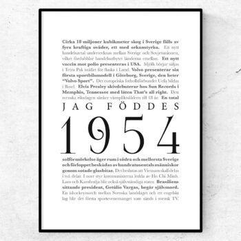 årtalsposter 1954 poster