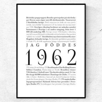 årtalsposter 1962 poster