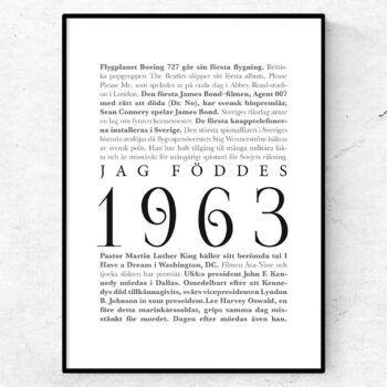 årtalsposter 1963 poster