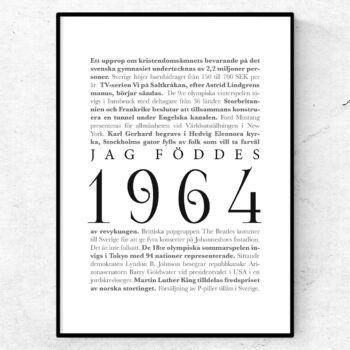 årtalsposter 1964 poster
