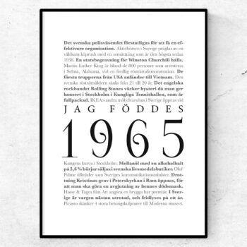 årtalsposter 1965 poster