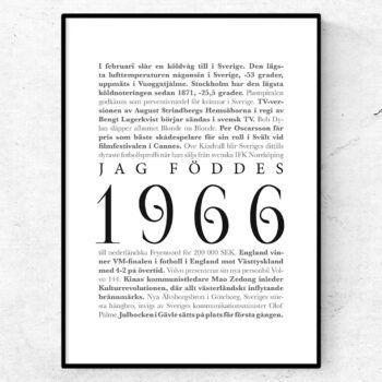 årtalsposter 1966 poster