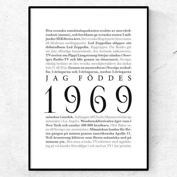 årtalsposter 1969 poster