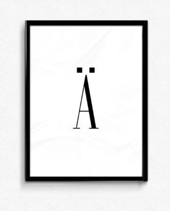 Ä bokstav letter poster