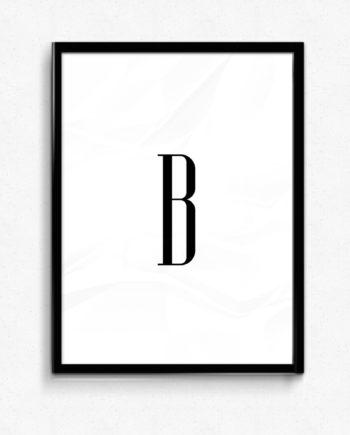 B bokstav letter poster