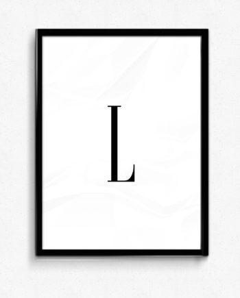 L bokstav letter poster
