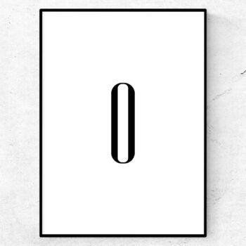 o bokstav letter poster