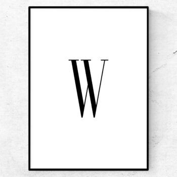 w bokstav letter poster