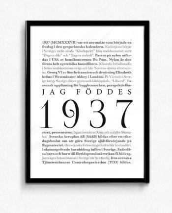 1937 poster affisch tavla