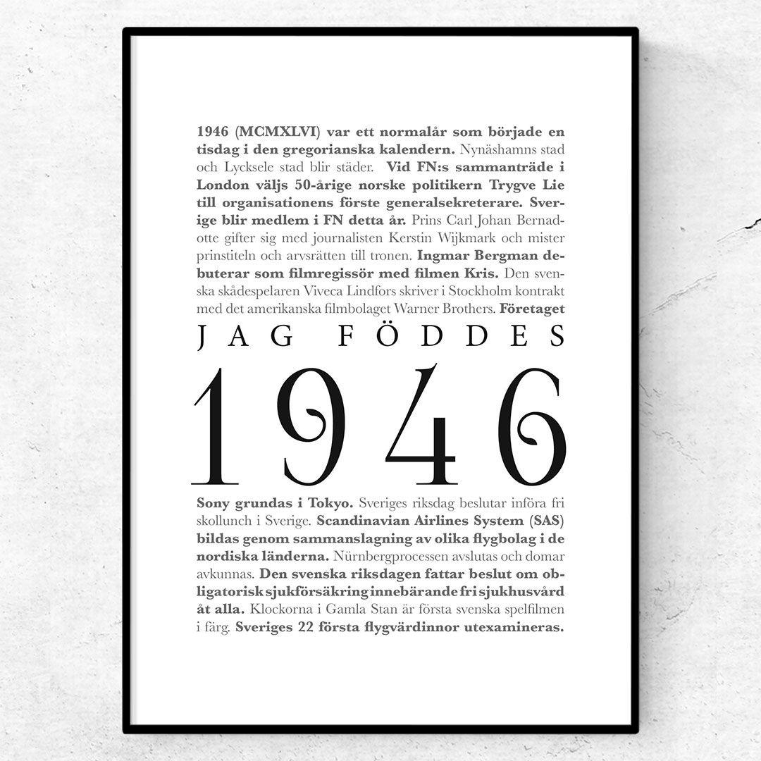 1946 poster tavla affisch