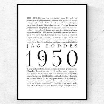 årtalsposter 1950 poster