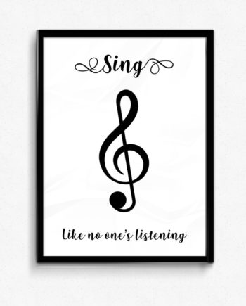 Sing like no one's listening poster affisch