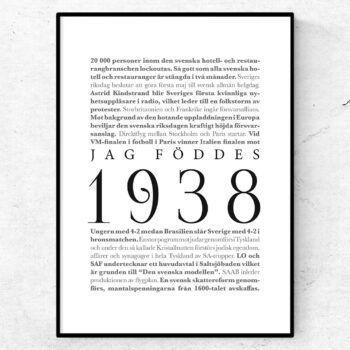 årtalsposter 1938 poster