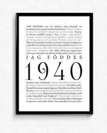 årtalsposter 1940