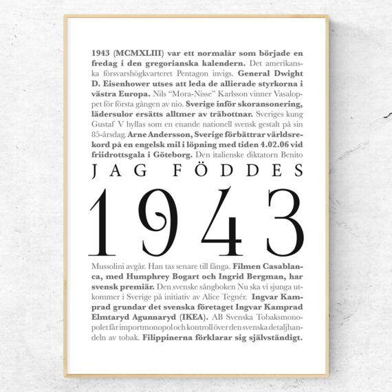 årtalsposter 1943 poster