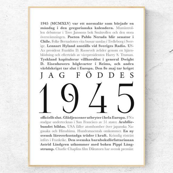 årtalsposter 1945 poster