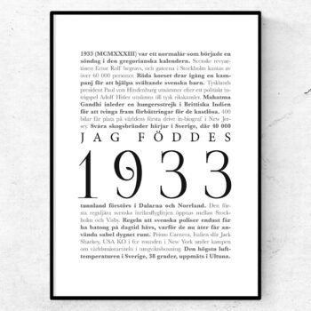 årtalsposter 1933 poster