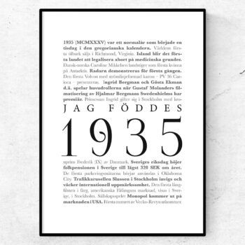 årtalsposter 1935 poster