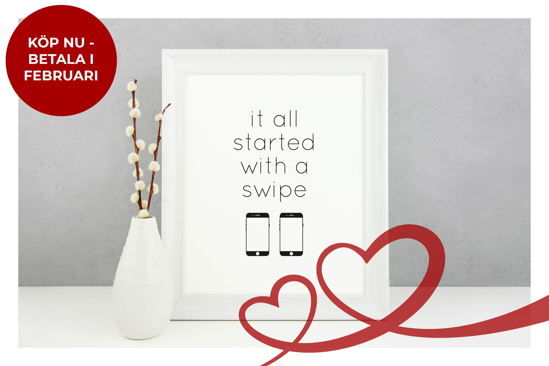 Alla hjärtans dag presenter - Köp en poster - Fri frakt   Klarna ... f8f22bba4618e