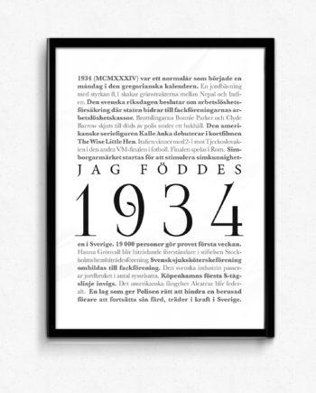 årtalsposter 1934 poster