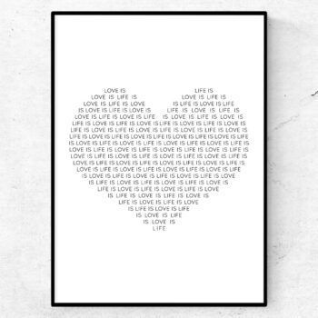 Life is love poster