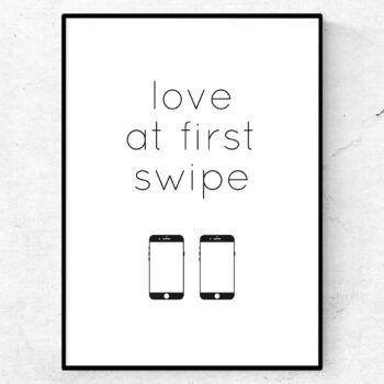 Found love at first swipe poster tavla tinder