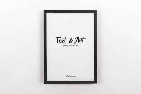 Text & Art a4 svart ram