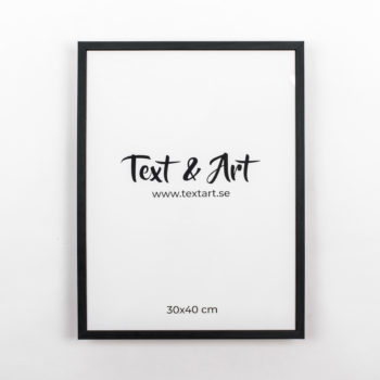 Text & Art ram svart 30x40cm
