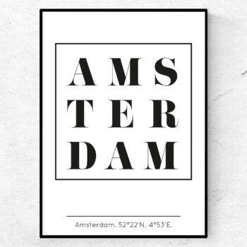 amsterdam poster tavla