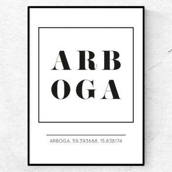 arboga poster tavla