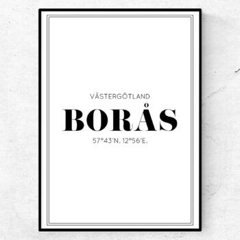 Borås poster tavla