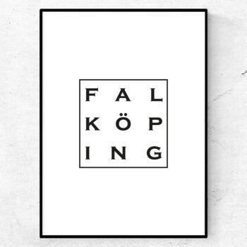 Falköping poster affisch tavla