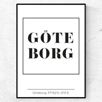 Göteborg poster tavla