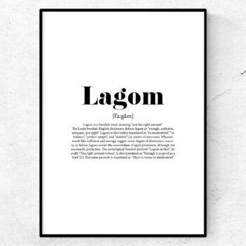 lagom poster tavla lexikon