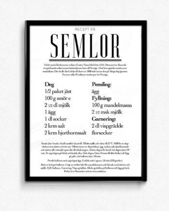 semlor recept poster