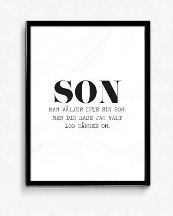 Man väljer inte sin son poster