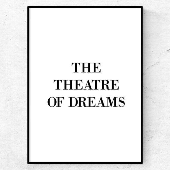 Theatre of dreams poster manchester united tavla