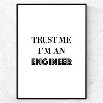 Trust me, i'm an engineer poster tavla yrke