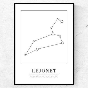 lejonet stjärnbild stjärntecken poster tavla