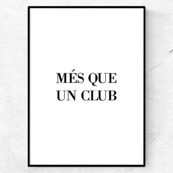 Mes que un club fc barcelona tavla poster