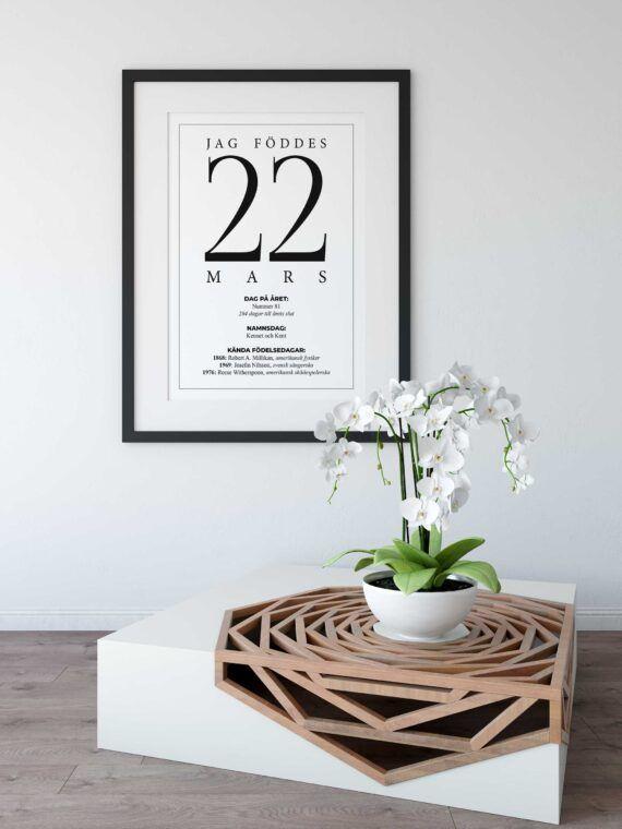 Min födelsedag födelsetavla 22 mars datum poster