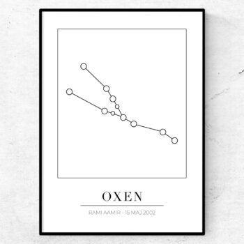 oxen stjärnbild stjärntecken poster tavla