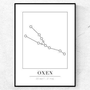 oxen stjärntecken poster