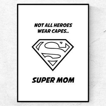 super mom poster tavla mors dag present